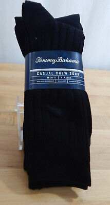 NWT Men's Tommy Bahama 4 Pack Casual Crew Socks-One Size