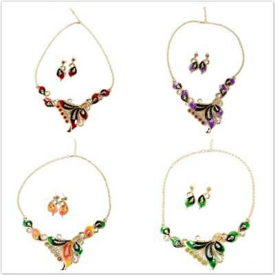 Women's Crystal Necklace Earrings Set for Wedding Bridesmaid Bridal Jewellery LH
