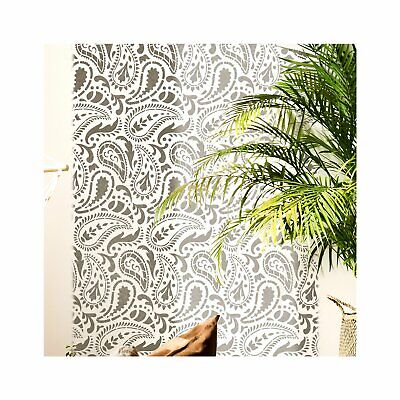 TAJ MAHAL Indian Paisley Stencil - Furniture Wall Floor stencil for Painting
