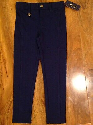Polo Ralph Lauren Girl's Navy Skinny Fit Trouser For 4 Years BNWT