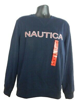 NWT Men's Nautica Crew Neck Long Sleeve Fleece Pullover Sweatshirt-Variety