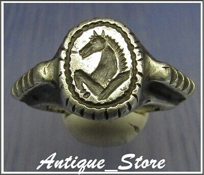 ** PEGASUS ** Ancient Legionary Silver Greek Roman Ring ** AMAZING **