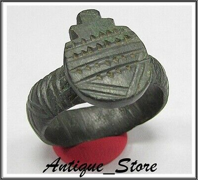 ** INTACT ** SAGITTARII-ARCHERY **Ancient Bronze Legionary Roman Ring *AMAZING*