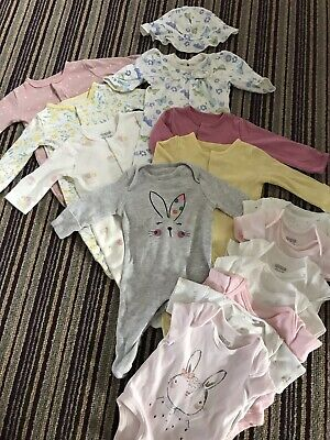 7 Girls Newborn Grows And Vests