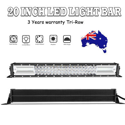 21inch 539mm LED Light Bar Triple Rows Spot Flood Combo For Driving Offroad 4X4