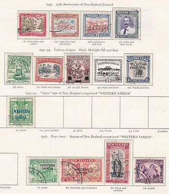 British Commonwealth. Samoa and Sarawak. TWO SCANS. George VI  issues. Used.