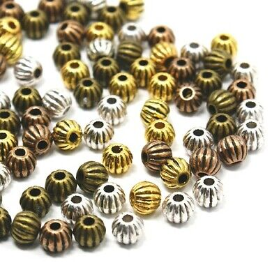 WHOLESALE 3 Packs Of Tibetan Round Spacer Beads 8mm Red Copper 3x20 Pcs Crafts