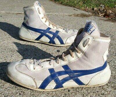 RARE Asics 1980's Dan Gable Tiger Wrestling Shoes Size 10 Vintage
