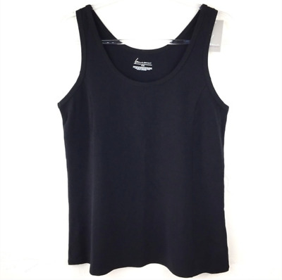 Sz 1X LANE BRYANT SEQUINED COTTON TANK TOP SLEEVELESS NWT ~Silver or Blue