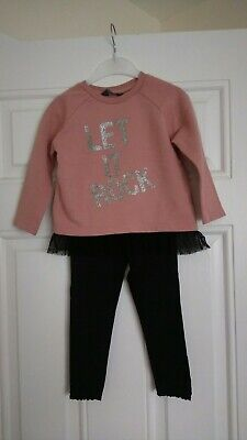 Girls outfit Next leggings and Primark jumper/top 2-3 Years