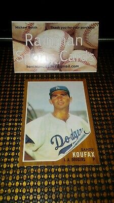 Sandy Koufax Los Angeles Dodgers 2019 Topps Update # ICR-13 Iconic Card Reprints
