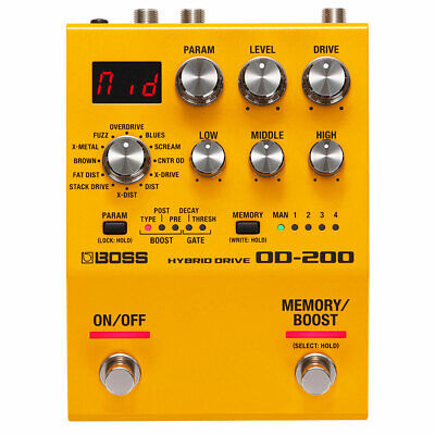 Boss OD-200 Hybrid Drive Multi Effect Unit Distortion Distortion