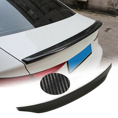 Carbon Rear Trunk Boot Lip Wing Spoiler For Audi A3 S3 RS3 Saloon 14-19