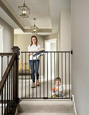Regalo 2-in-1 Extra Tall Easy Swing Stairway and Hallway Walk Through Baby Gate,