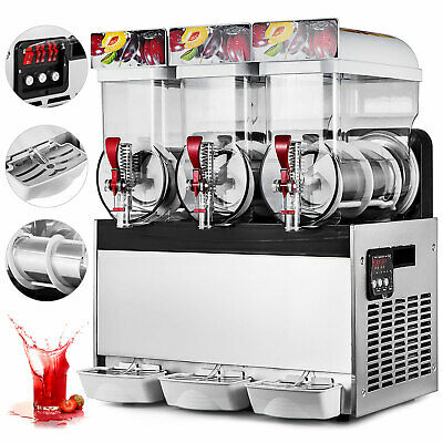 3X15L Machines A Slushy Slush Granitas Boisson Maker 2°C/-3°C Jus de fruits 60HZ