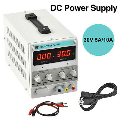 5A/10A Digital DC Power Supply Variable Adjustable Lab Bench Test Equipment Tool