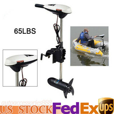 """ET65L 65LBS Thrus Outboard Engine Electric Boat Trolling Motor Short Shaft 15.7"""""""