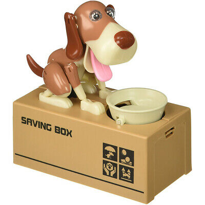 Choken Puppy Hungry Eating Dog Coin Bank Money Saving Box Piggy Bank for Kids