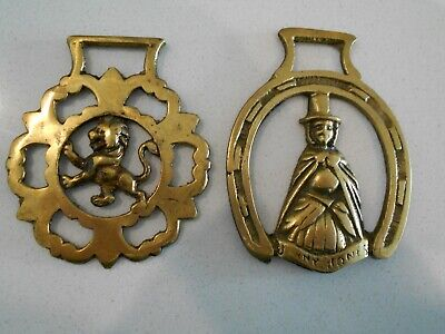 2 X Horse Brasses - 1 X Jenny Jones? And 1 X Lion