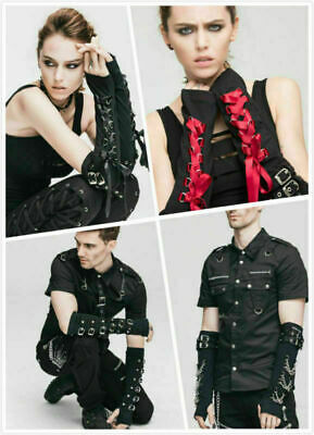 Gothic Lace-up Steampunk Long Gloves Rock Punk Unisex Personalized Casual Gloves