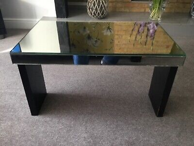 Genuine Vintage Art Deco Bevelled Mirrored Coffee Occasional Table
