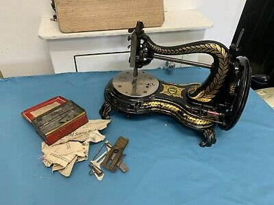 **REDUCED** Old Vintage   Jones serpentine swan neck  Hand Crank Sewing Machine