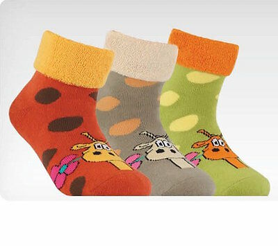 2-4-6 Pair Terry Warm Quality Children's Socks Gift Cotton Gr.32/33 Conte