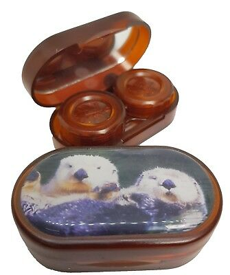 Endangered Species Mirror Case Contact Lens Soaking Storage Case - Otter