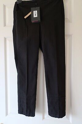 New Khaadi Black Straight Trouser Embroidered Pakistani Designer Size 10 W/tags