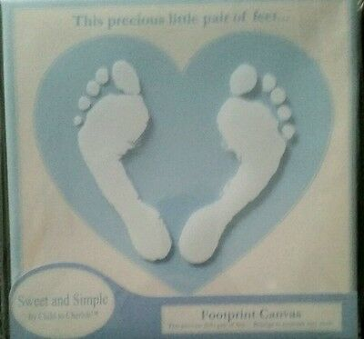 Keepsake Baby Footprint Canvas Kit Blue by Child To Cherish