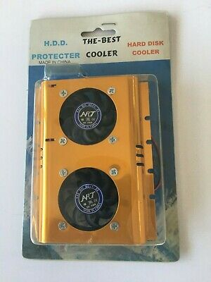 """3.5"""" Hard Disk Drive HDD Dual Fan Cooling Cooler"""