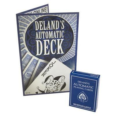 Deland's Automatic Ultimate Marked Blue Deck By Magic Makers Stripper Card Trick