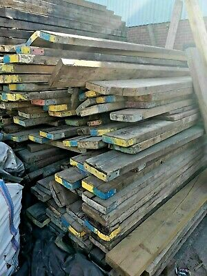 8ft used scaffold boards Planks batterns 63mm thick x 225 wide.