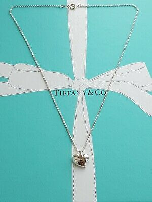 "Authentic Tiffany & Co Elsa Peretti Full Heart Necklace, on an 16"" T&Co Chain"