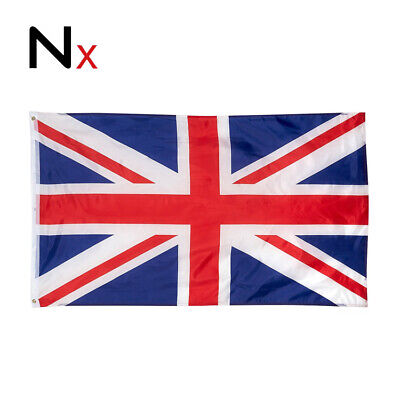 New 5 x 3FT Large Union Jack Flag Great Britain Fabric Polyester GB Sport UK