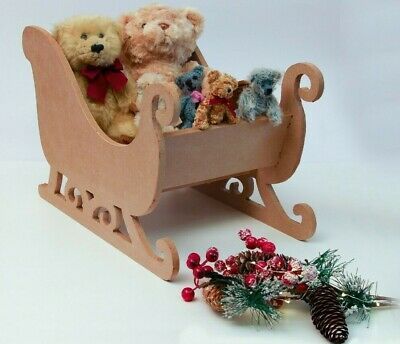Large Wooden Sleigh Kit  ~ MDF Supplied Flat Packed