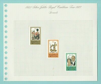 Stamps - British  Commonwealth - Silver Jubilee Royal Caribbean Tour - 1977 (C)