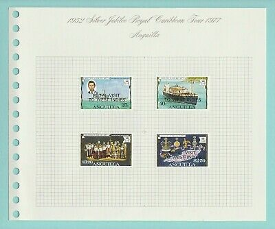 Stamps - British  Commonwealth - Silver Jubilee Royal Caribbean Tour - 1977 (A)