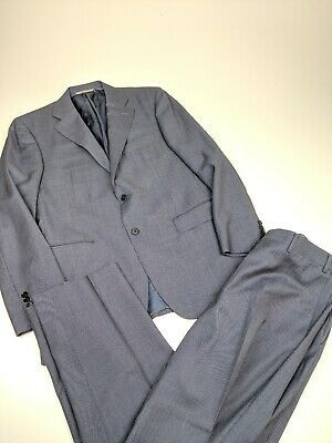 RECENT Canali Blue Micro Dot Wool Full Suit Pants Sz 40R    13712