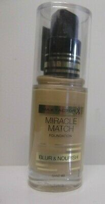 Max Factor Miracle Match Foundation - Blur And Nourish Different Shades