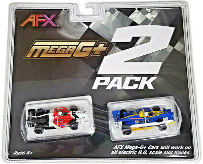 Tomy AFX JUST RELEASED #22017 Mega G+ Formula Twin Pack HO Scale Slot Car NIB