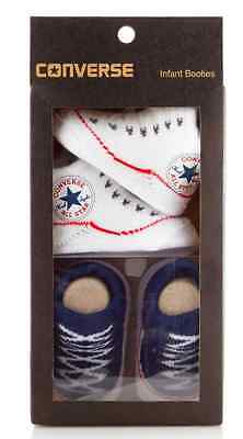 Converse Baby All Star Knit Booties 2 Pack Navy/White