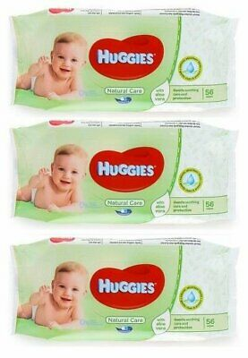 HUGGIES BABY WIPES NATURAL CARE 56ct (3 PACK)