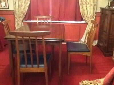 Danish Solid Teak Draw-Leaf Table And Six Chairs Excellent Condition