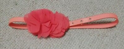 Girls NEXT Coral Belt With Flower Detail Age 5-7