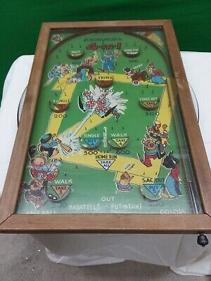 Antique Poosh-M-Up Jr 4 in 1 Tabletop Pinball Game By Northwestern Products Co.