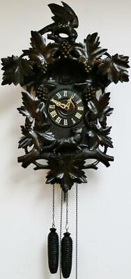 Rare Antique Black Forest Cuckoo Wall Clock 8 Day Twin Weight Striking Movement