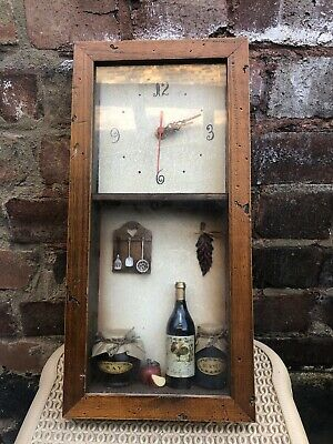 RARE Unique Vintage Retro Inspired Wooden Wall Clock With 1900s Details