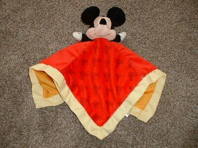 Disney Baby Mickey Mouse Security Blanket Lovey Yellow Red Kids Preferred Infant
