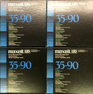 """Lot of 9 Maxell UD 35-90 7"""" Reel Recording Tapes"""